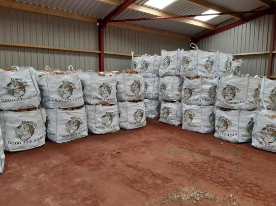 Bags ready to be loaded