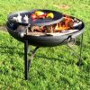 Plain Jane Fire Pit, with swing arm BBQ rack | Beaver Logs